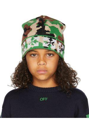 OFF-WHITE Beanies - Kids Green & Camou Beanie