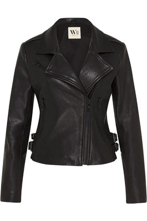 Women's Low-Impact Black Leather New Yorker Motor Jacket Large West 14th