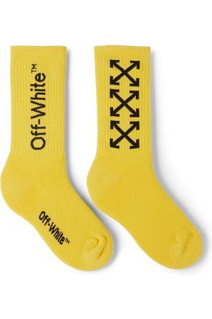 OFF-WHITE Socks - Kids Yellow & Black Arrows Socks