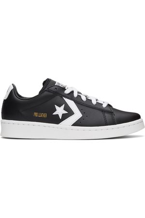 Converse Men Sneakers - Black & White Leather Pro OX Sneakers