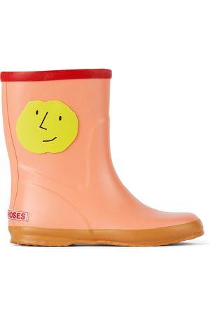 Bobo Choses Kids Pink Faces Rain Boots