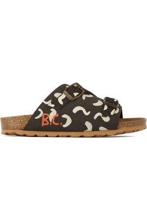 Bobo Choses Sandals - Kids Black & White Shapes All Over Sandals