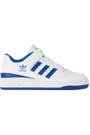 adidas Sneakers - Kids White & Blue Forum Low Little Kids Sneakers
