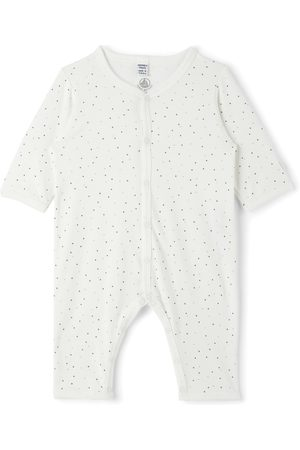 Petit Bateau Rompers - Baby Organic Cotton Starry Footless Bodysuit