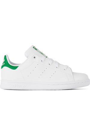adidas Sneakers - Kids White & Green Stan Smith Little Kids Sneakers