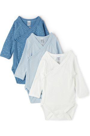 Petit Bateau Rompers - Baby Wrapover Long Sleeve Bodysuit Three-Pack