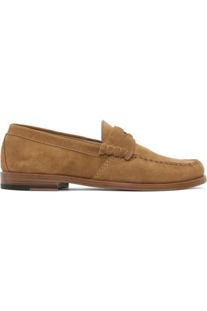 Rhude Men Loafers - Tan Suede Penny Loafers