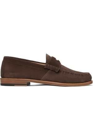 Rhude Men Loafers - Brown Suede Penny Loafers