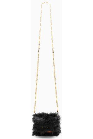 Marni Women Luggage - Brown/ faux-fur Trunk Nano bag