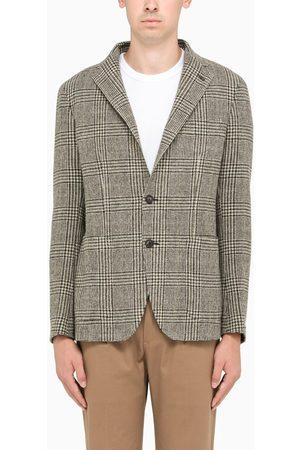 TAGLIATORE / checked single-breasted jacket