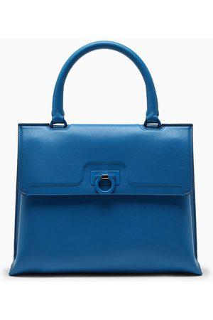 Salvatore Ferragamo Blue Trifolio handbag