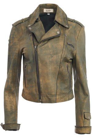 Women's Artisanal Gold Leather Josey Novelty Jacket Large Jakett New York