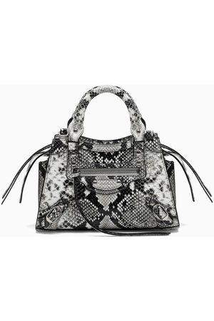 Balenciaga Phyton-print Neo Classic City mini bag