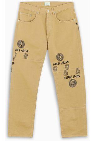 ARIES Men Jeans - Khaki Coin Column Batten jeans