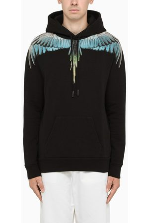 MARCELO BURLON Turquoise Wings-print hoodie