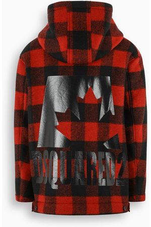 Dsquared2 Black and parka with Check motif