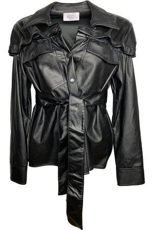 Women Leather Jackets - Women's Vegan Black Leather Olivia Shirt Jacket Large Maturos New York