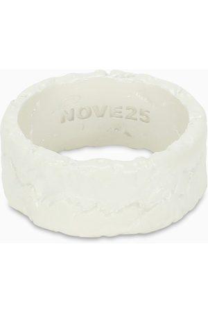 NOVE25 White Materic band ring