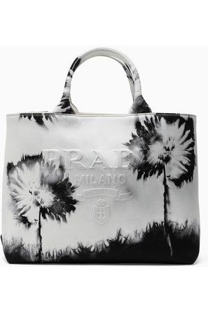 Prada Flower printed tote bag