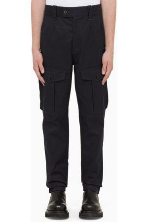 Alexander McQueen Navy cargo trousers