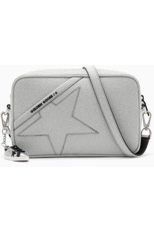 Golden Goose Silver cross-body bag with glitter stars