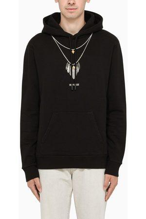 MARCELO BURLON Sweatshirt hoodie with feathers print