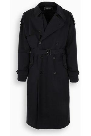 Balenciaga Navy double-breasted trench coat