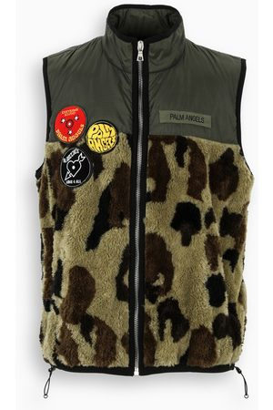 Palm Angels Camouflage patch waistcoat
