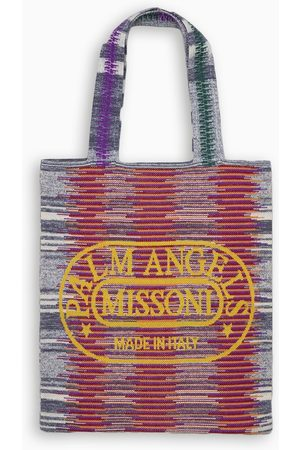Palm Angels X MISSONI Multicolour logo knitted tote bag