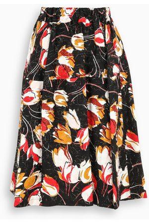 Marni Black tulip-print shirt