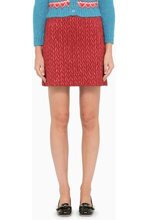 Miu Miu Quilted herringbone mini skirt
