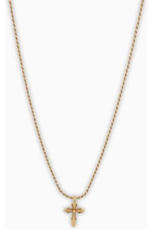 EMANUELE BICOCCHI Gold plated cross necklace