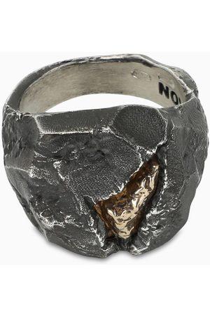 NOVE25 Men Rings - Materic nugget ring