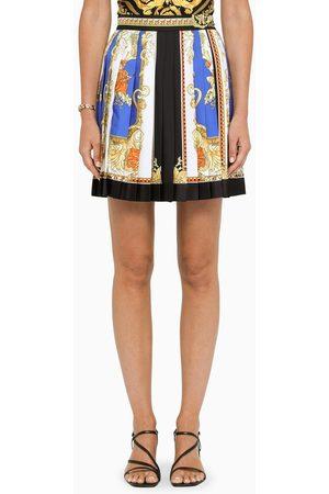 VERSACE Baroque print pleated mini skirt