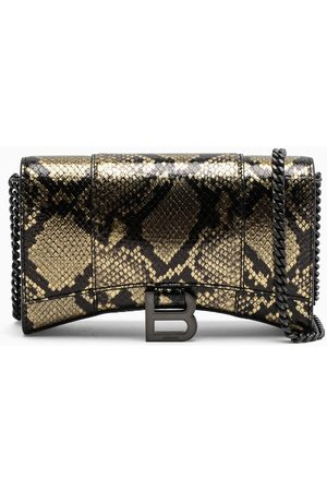 Balenciaga Phyton-print Hourglass chain wallet