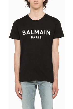Balmain T-shirt with contrasting logo lettering