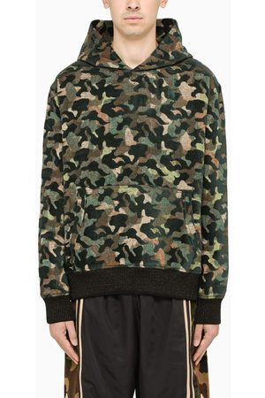 JUST DON Camouflage cotton blend hoodie