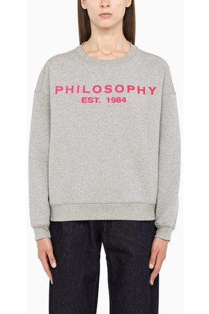 Philosophy Grey logo crewneck sweatshirt