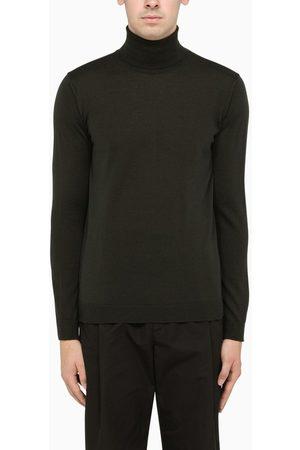 Roberto Collina Dark brown turtleneck pullover