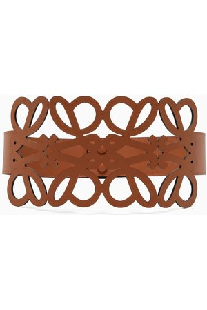 Loewe Tan leather Anagram belt