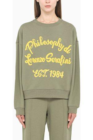 Philosophy Green embroidered crewneck sweatshirt