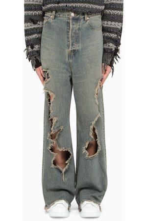Balenciaga Brown destroyed baggy pants