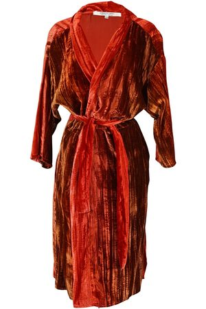 Women Kimonos - Women's Artisanal Red Velvet Hades Koi Kimono S/M Jennafer Grace