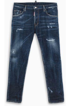 Dsquared2 Men Skinny - Washed navy skinny jeans