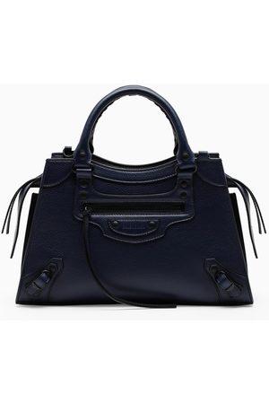 Balenciaga Women Luggage - Navy Neo Classic City small top handle bag