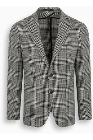 TAGLIATORE Black and white single-breasted blazer