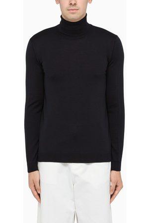 Roberto Collina Navy turtleneck pullover