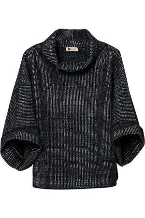 Women Ponchos & Capes - Women's Artisanal Grey Silk Cape Cashmere Merino Tasselli Cashmere
