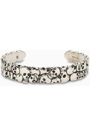 Alexander McQueen Metal skull bracelet