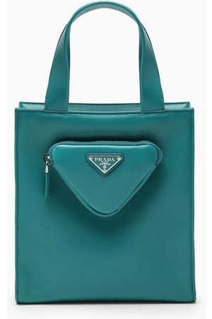 Prada Teal mini shopping bag